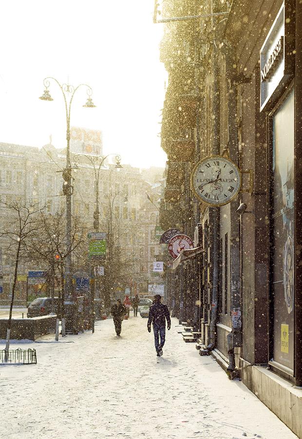 Первый день нового года – The first day of the new year. Фото зимнего Киева