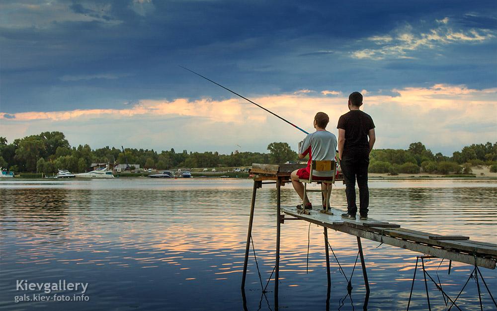 Рыбалка на закате - Fishing at sunset
