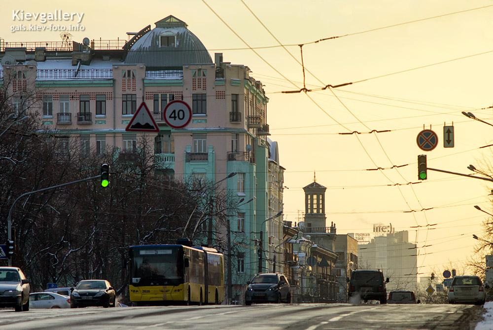 Вечер над Владимирской - The evening above Volodymyrska st.