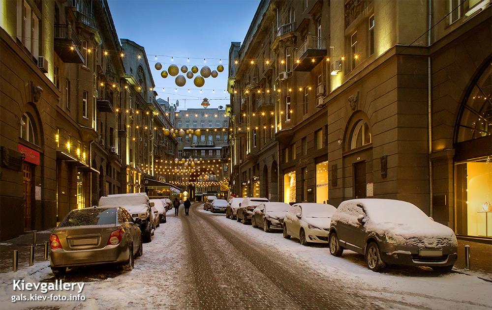 Новогодний пассаж в Киеве. New Year passage in Kiev