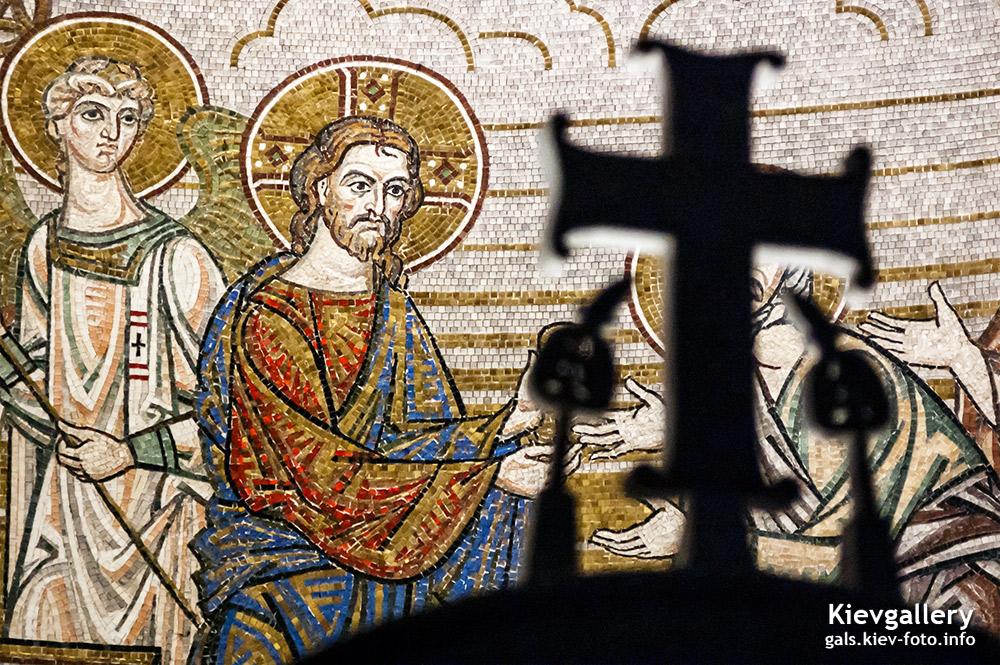 Преображенский собор на Теремках. Мозаичная икона Христос