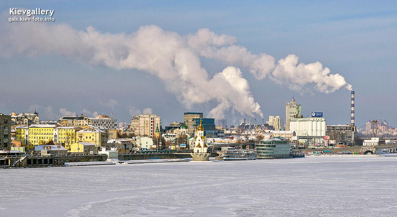 Вид на зимний Подол