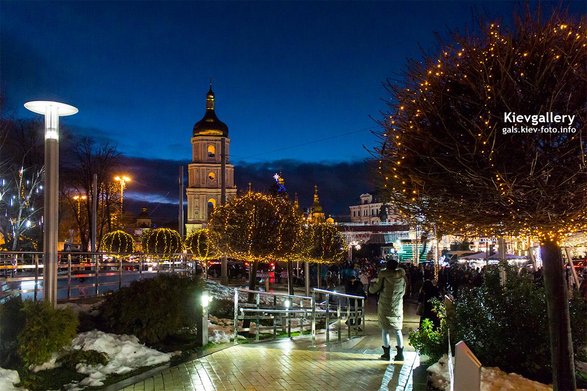 Новогодняя Софийская площадь
