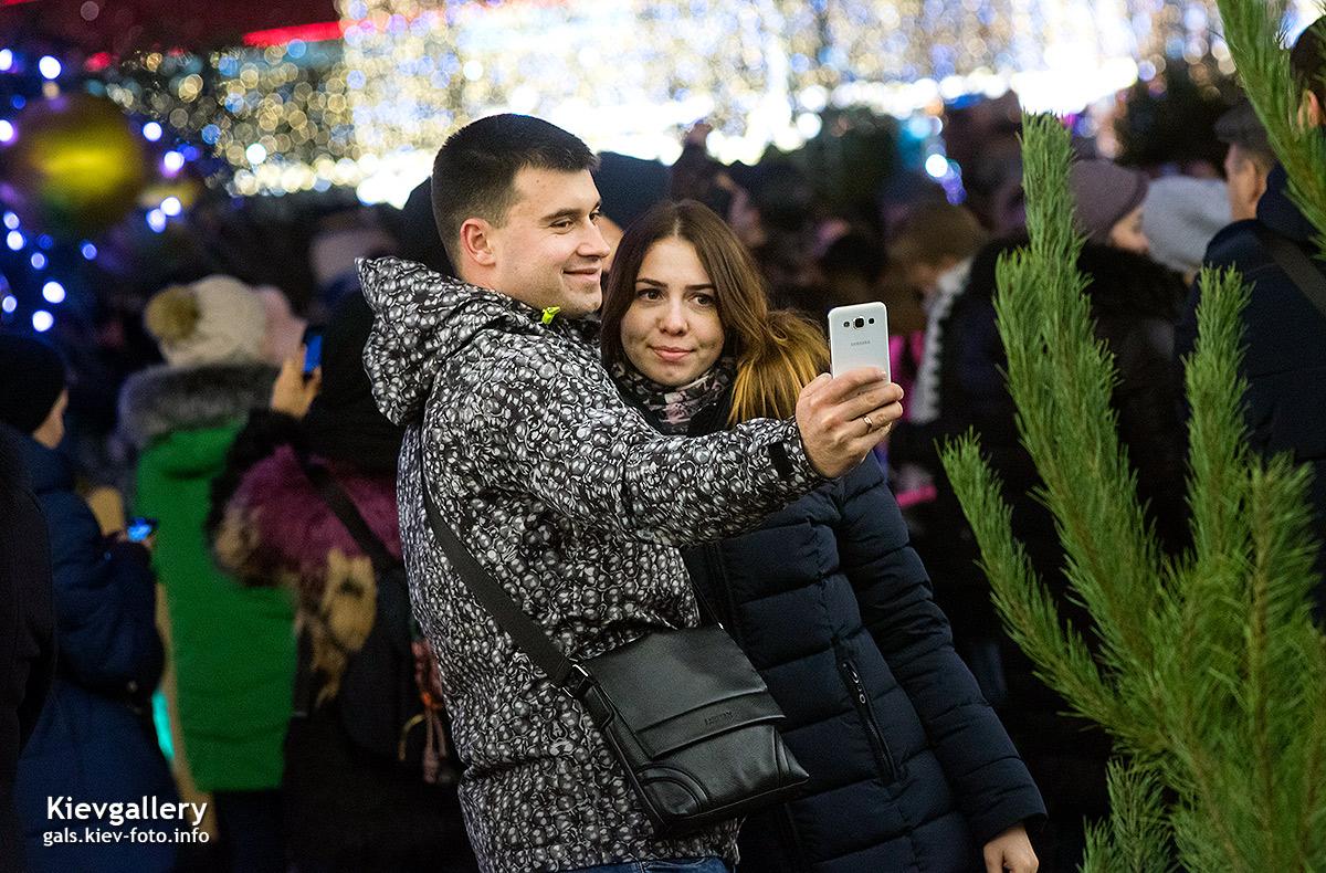 Главная новогодняя елка Киева 2018. Фотографии