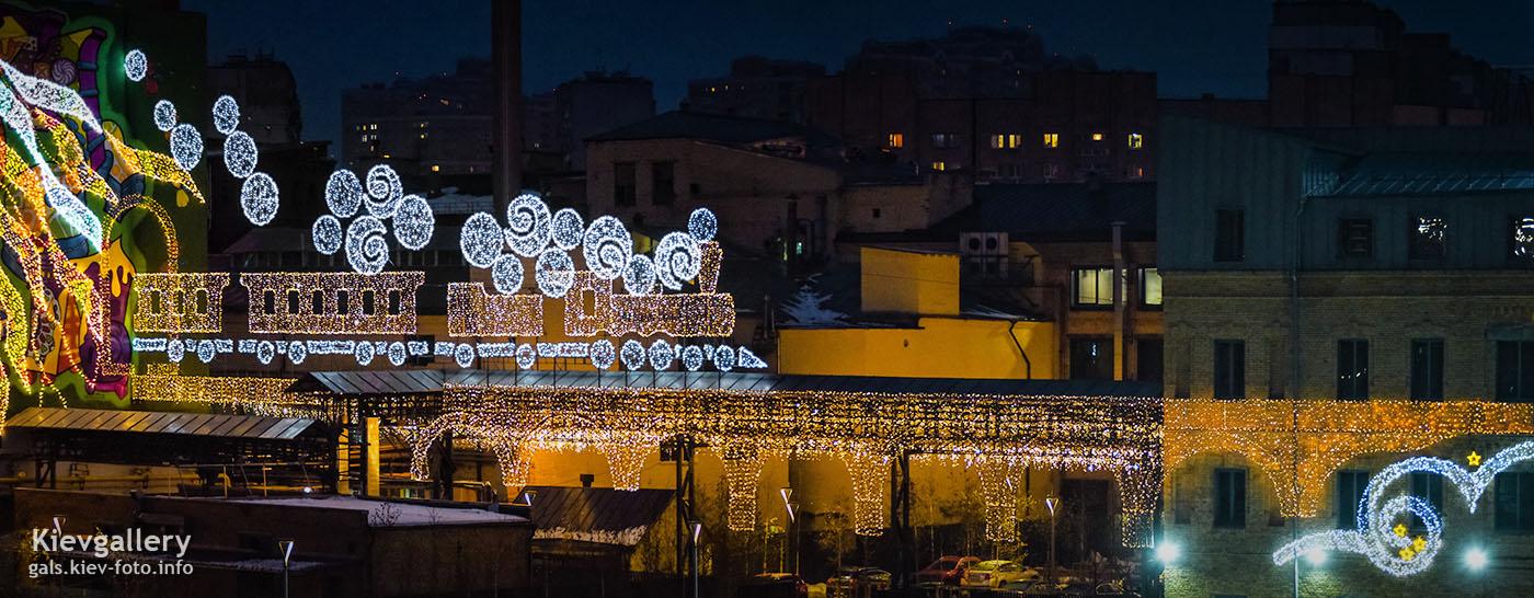 Праздничная иллюминация фабрики Рошен (Roshen) 2019