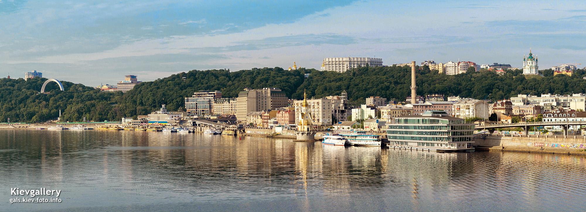 Панорамный вид Подольской набережной