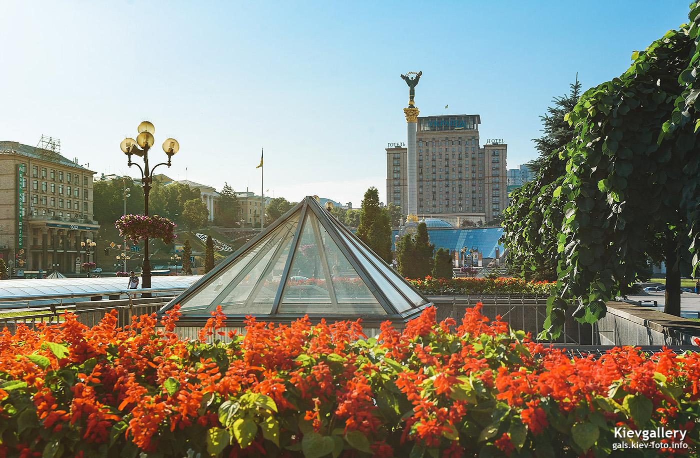Летнее утро на Майдане