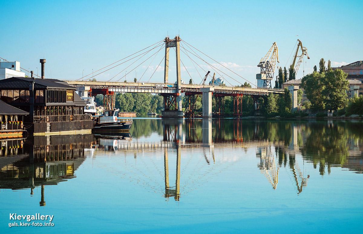 Рыбальский мост в Киеве