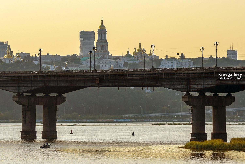 Мост Патона на закате