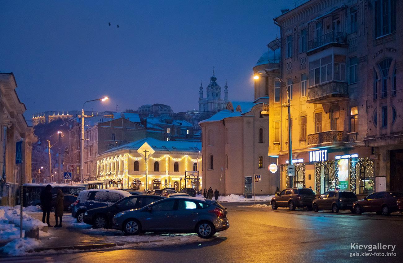 Вечерняя Контрактовая площадь