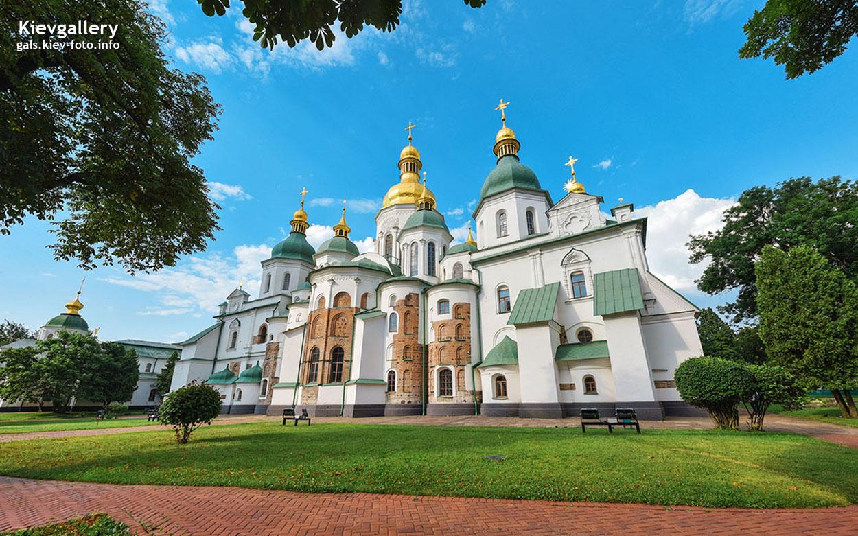 Вид на восточный фасад Софии Киевской
